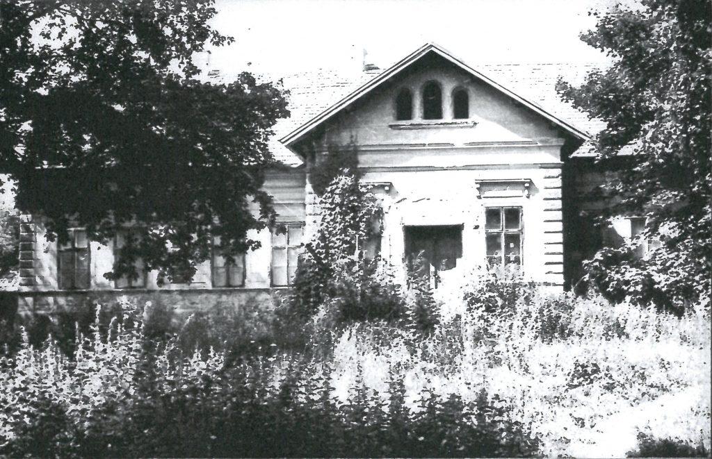 Kastély Inámpusztán az Iskola utcában (70-es évek környéke)