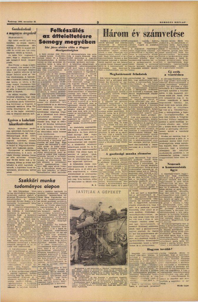 Somogyi Néplap, 1964. november 22.