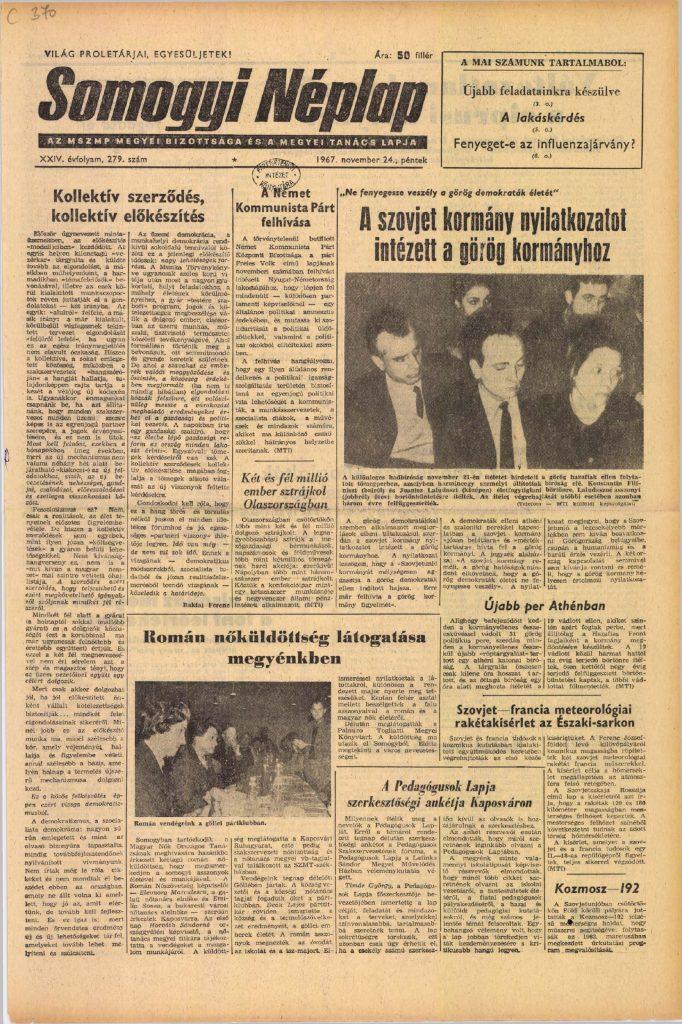 Somogyi Néplap, 1967. november 24.