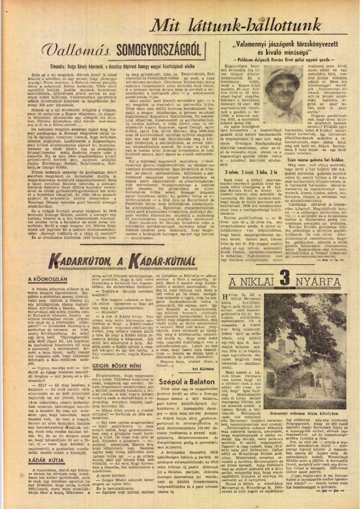 Szabad Föld, 1957. június 2.