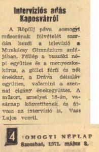 Somogyi Néplap, 1971. május 8.
