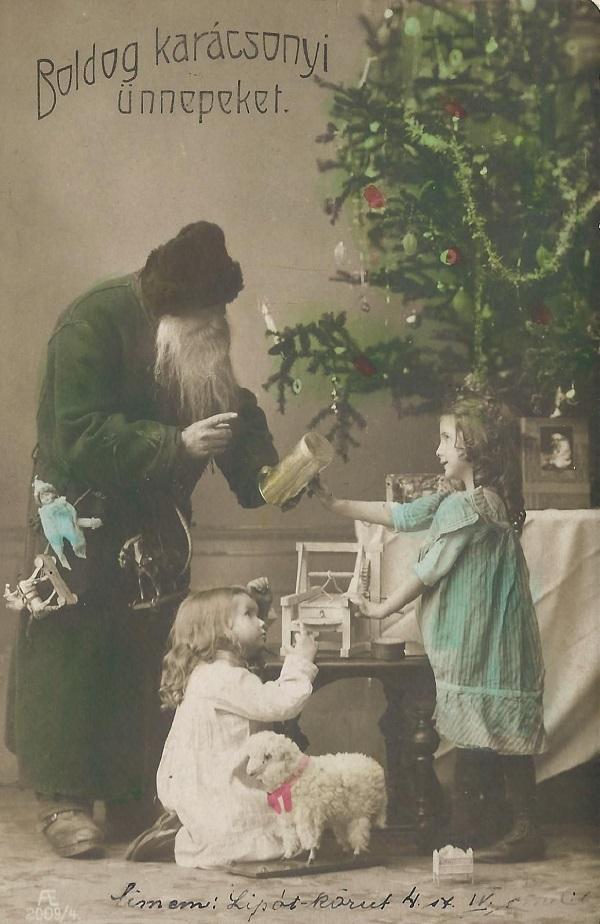 Boldog Karácsonyi ünnepeket - képes levelezőlap (1936) - Magyar Kereskedelmi és Vendéglátóipari Múzeum, CC BY-NC-ND